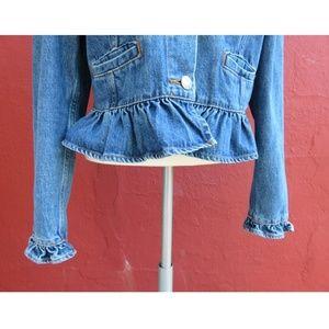 GAP Jackets & Coats - GAP Trending Ruffle Frill Denim Fall Jean Jacket